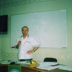 В аудитории перед слушателями, Руководитель курсов академик, профессор Трубицын А. А. 2006 г.